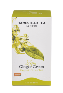 Hampstead Tea Zesty Ginger Green Organic 20tb