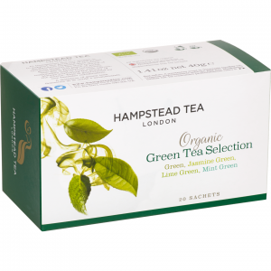 Hampstead Tea Organic Green Tea Selection mieszanka zielonych herbat 20 saszetek