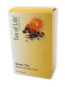 Tea of Life Green Tea with Orange Spice 25t