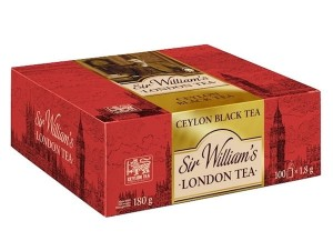 Sir William's London  Ceylon Black Tea czarna herbata cejlońska 180g 100 saszetek