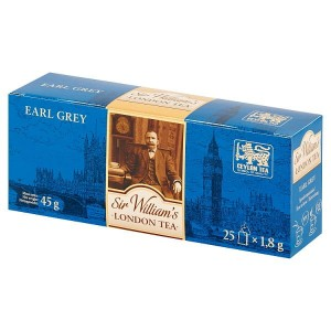 Sir William's London  Earl Grey czarna herbata cejlońska 45g 25 saszetek